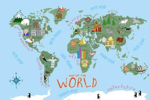 Homegood Kids World Map